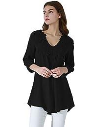 es Blusas Crop Camisetas Top Camisas Eur 50 Y 100 Amazon FdApxwA