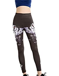 Legging Femme Fille Elastique Leggings Caleçon Stretch Collant Pantalons de  Crayon Moulant Legging Yoga Mode Impression Animaux Sport… a4dfe54faa8