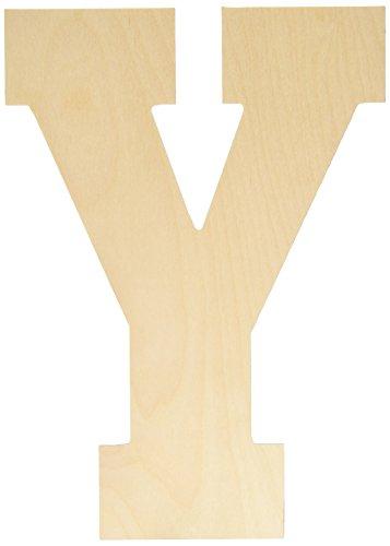 Baltische Birke Collegiate Buchstaben und Zahlen 33 cm Y -