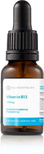 Nutrivitality Liquid Vitamin B12 (Dropper Bottle) - Highest Absorption, 1200μg, 15ml, 30 doses | Maintain Normal Energy Levels, and Maintenance of red Blood Cells and The Nervous System
