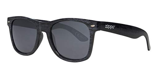Zippo Polarized Smoke Flash Mirror Lens Sonnenbrillen, schwarz, M