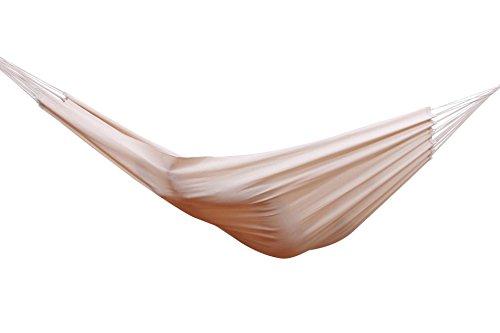MacaMex MA-01060 Hängematte, Hängematte Baumwolle Südamerika Brasil Comfort Premium, 400 x 170 x 150 cm, natur