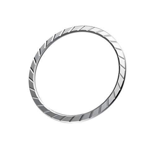 Takkar Anti Scratch Edelstahl Lünette Ring Kleber Deckel - vermeidet Kratzer und bietet zusätzlichen Schutz - Für die Galaxy Watch 46 mm/Galaxy Gear S3 Frontier & Classic (Silber)