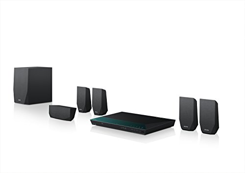 Sony BDV-E2100 5.1 Blu-ray Heimkinosystem (1000 Watt, 3D, W-LAN, Smart TV, Bluetooth, NFC) schwarz (Surround-sound-system 1000w)