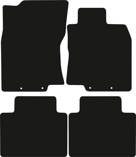 Premier Products Tailored Black Car Mats - To Fit: X-Trail 2014-2017