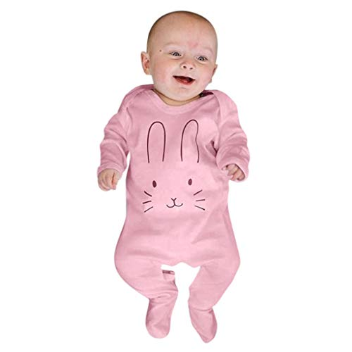 Mymyguoe Niño Camisa Camiseta Sudadera Casual Mono de Mameluco con Estampado de Conejos de Manga Larga Ropa de Bebe niñas Blusa para Bebé Shirt Ropa Bebe de 0 a 3 Meses Pijama niño