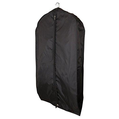Atmungsaktiver Nylon Kleidersack Für Mehrere Kleidungsstücke - Schwarz - 112 cm - Hangerworld