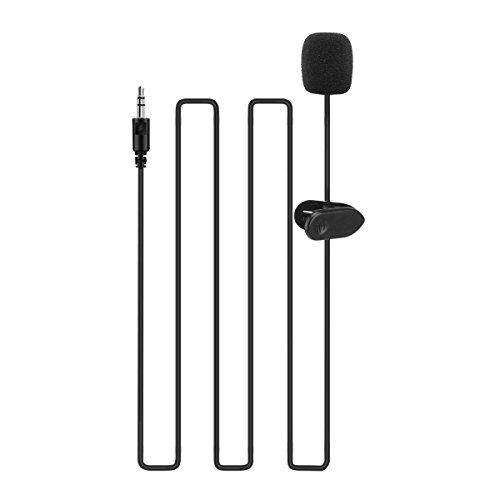 ONEVER-35-millimetri-Microfono-lavalier-portatile-Mini-spina-del-microfono-mani-clip-collare-libero-Mini-risvolto-del-microfono-per-Smartphone-fotocamere-Registratori-PC-e-Altro