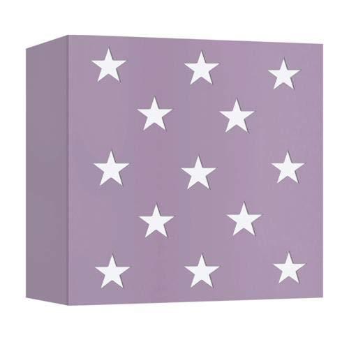 Applique Murale Etoiles Violette En Métal