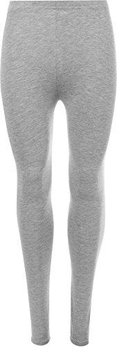 WearAll - Damen Übergröße Lange Leggings - Hellgrau - 48 bis 50 (Strumpfhosen Einfach)