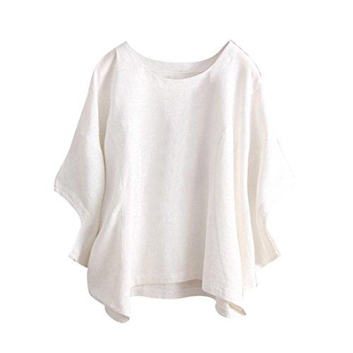 TUDUZ Damen Lose Asymmetrisch Sweatshirt Pullover Vintage Bluse Oberteile Oversized Tops T-Shirt