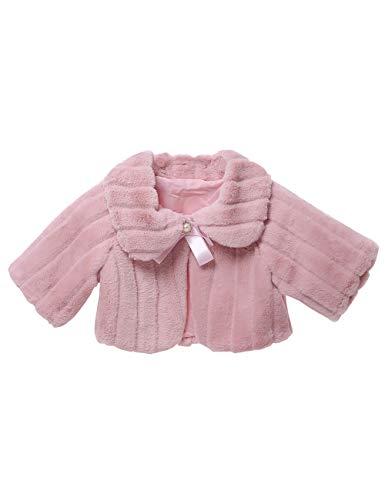 besbomig Coprispalle per Bambina Autunno Inverno Cappotto per Bambina - Dolcecuore in Pizzo a Manica Lunga per Bambini