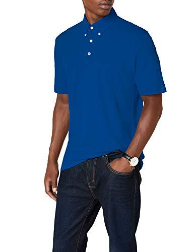 James & Nicholson Herren Poloshirt Poloshirt Men's Plain blau (royal/royal-white) Large -