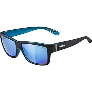Alpina Sonnenbrille Sport Style Kacey, Black matt-Blue, one Size