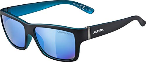 Alpina Sonnenbrille Sport Style KACEY black matt-blue, One Size -