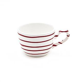 Gmundner Keramik Manufaktur 0182TKGL10 rotgeflammt Kaffeetasse glatt, 0,19 L