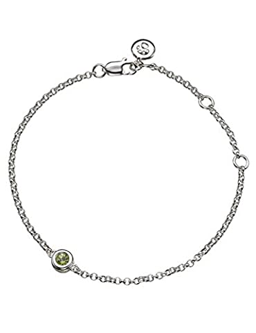 Molly Brown | August Peridot Silver Birthstone Bracelet