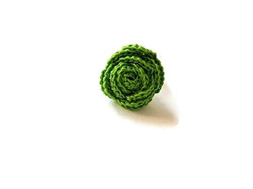Anillo de color verde oliva regalo joyería flor para su ganchillo verde hecho a mano