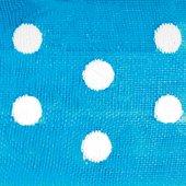 Club Lazos de Organza Verde con Lunares, Turquesa, 33Piezas