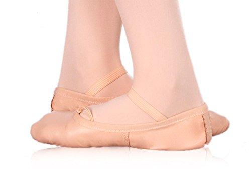Happy Dance Ballet - Mezze punte unisex, salmone, numero 32