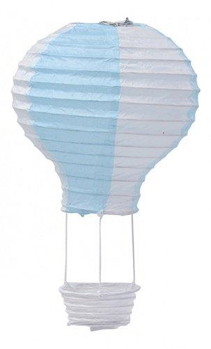 Suspension mongolfière bleu ciel 13 x 22 cm