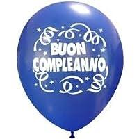 palloncini buon compleanno colori assortiti Confezione da