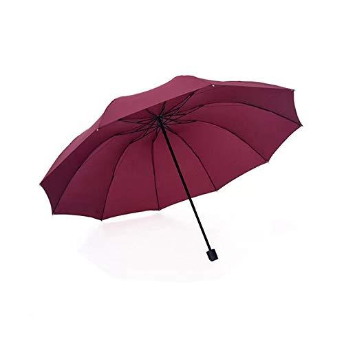 Anti Uv Big Regenschirm Regen Frauen Falten Winddicht Sonne Große Männer Regenschirme Weibliche Sonnenschirm Paraguas Chinese Burgund