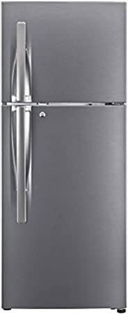 LG 260L 3 Star Smart Inverter Frost-Free Double Door Refrigerator (GL-S292RDSX, Dazzle Steel, Convertible)