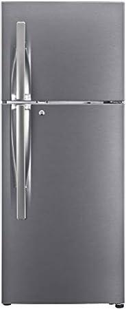LG 260L 3 Star Smart Inverter Frost-Free Double Door Refrigerator (GL-S292RDSX, Dazzle Steel, Convertible)