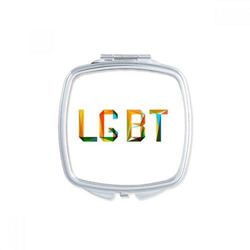 DIYthinker LGBT - Espejo de bolsillo para maquillaje, diseño de arcoíris