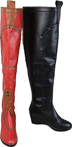 Harley Kostüm Stiefel Quinn - GSFDHDJS Cosplay Stiefel Schuhe for Batman Suicide Squad Harley Quinn Long