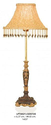 Casa Padrino Barock Tischleuchte Gold 27 x H 65 cm - Luxus Tisch Leuchte - Nostalgisch und prunkvoll