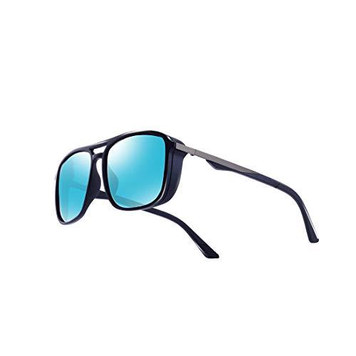 92c9c823be kimorn Gafas De Sol Polarizado Para Los Hombres Marco Cuadrado Unisexo  Deportes Al Aire Libre Gafas