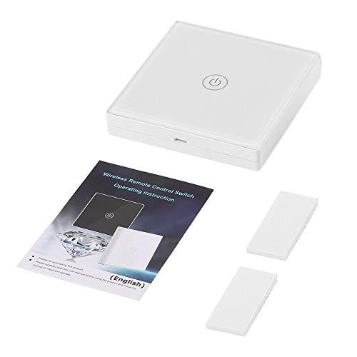 Saful Wireless Fernbedienung Schalter Licht Wandleuchte Touch-Schalter Glasscheibe LED-Anzeige Smart Home Wandschalter TS-W433