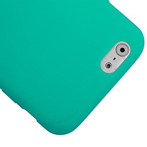 Wkae Case & Cover Case givré Protection TPU écran Flip tactile horizontale pour iPhone 6 Plus &6S plus ( Color : White ) Green