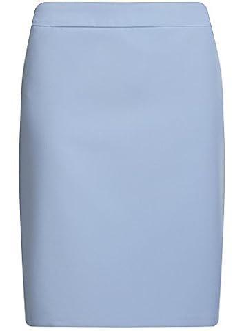 oodji Collection Women's Basic Straight Skirt, Blue, UK 10 /