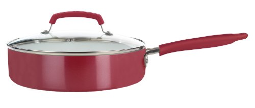 WearEver C9433364 3-1/2-Quart Nonstick Ceramic Coating Dishwasher Safe Jumbo Cookware, Red