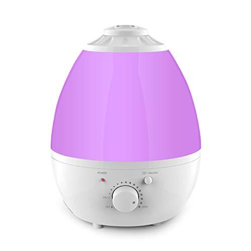 Ultraschall Luftbefeuchter, 1,3 Liter Aroma Diffusor, Kühler Nebel Luftbefeuchter, 7 farbiges LED Licht, leiser Betrieb mit wasserloser automatischer Abschaltfunktion für Schlafzimmer zu Hause -
