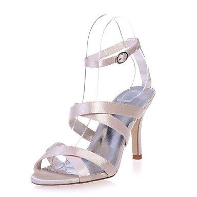 RTRY Scarpe Donna Satin Stiletto Heel Punta Aperta Sandali Matrimoni/Parte &Amp; Sera Scarpe Più Colori Disponibili US8 / EU39 / UK6 / CN39