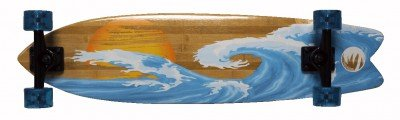 Paradise Complete Longboard Bamboo Sunset Wave Freestyle 36.0X 8.5