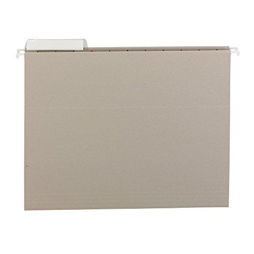 SMEAD Farbige Hängemappen Größe mit 1/3-cut Taben, Buchstaben, grau, 25pro Box (64027)