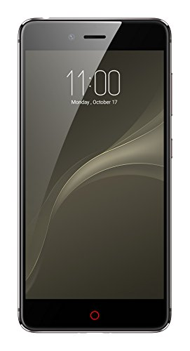 "Nubia Z11 Mini S - Smartphone con pantalla de 5.2"" (Octa-Core, RAM de 4 GB, memoria interna de 64 GB, cámara de 23 MP, Android) color gris"