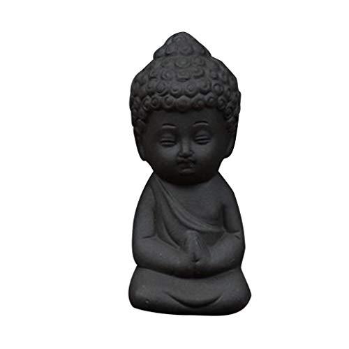 D DOLITY Lila Sand Mönch Buddha Figuren Skulptur Statue Mini Figuren Dekor (Keramik-mini-figur)