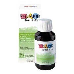 Pediakid - Sirop transit doux à la pomme - 125 ml flacon - Pour un bon transit de l'enfant