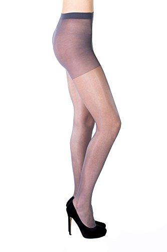 Aurellie Transparentes Damen Lycra Strumpfhosen ohne Muster 20 Den verschiedene Farben Multipacks -