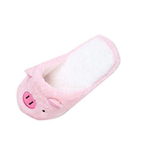 chaussons-femme-reaso-belle-pig-accueil-plancher-stripe-souple-chaussures-40-rose