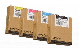 Original Epson C 13 T 612800 / T6128 Tinte (matt schwarz, Inhalt 220 ml) für Stylus Pro 7450, 7800, 7880, 9450, 9800, 9880 -