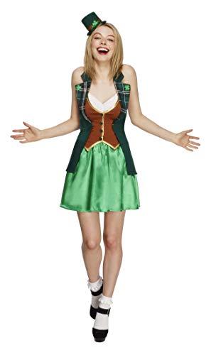 Smiffys 43493M - Fever St. Patricks Kostüm mit Jackeer Rock angebaute Underskirt und Mini-Hut