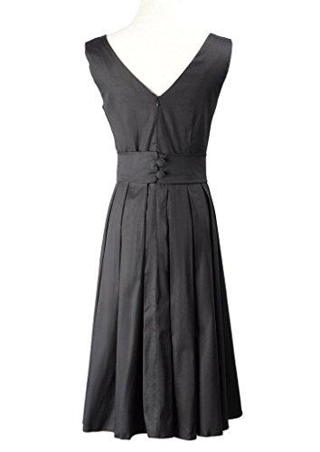 Eyekepper Robe soiree femme demoiselle de belle couleur Audrey Hepburn Vintage 1950 fete dance party cocktail Noir