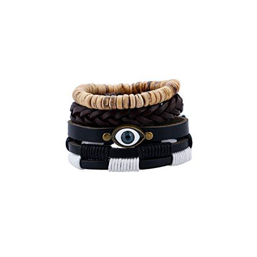 Armband Armreif, Schmuckgeschenk, Handmade Weave Vintage Boho Gypsy Hippie Cuff Beads Leather Infinity Charm Male Men Bracelets Women Female Jewelry Type 15 Gypsy Thread